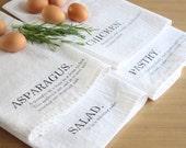 Gertrude Stein Tea Towels - Screen Printed Tender Buttons Towels