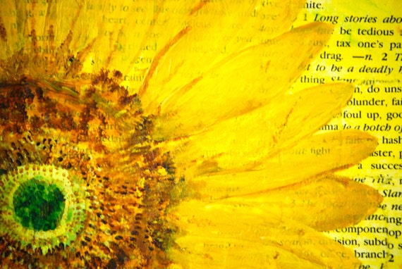 Sunflower Painting Original...Not just another pretty face