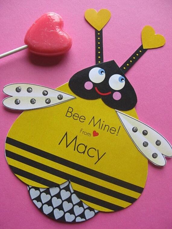 Bee Valentine Card Craft – Bee Mine Valentine Card