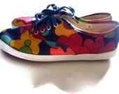 Vintage 90s ESPRIT Canvas Shoes Sneakers Womens Size 7