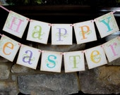 Easter banner, Sign, HAPPY EASTER, wall decor