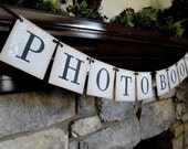 PHOTO BOOTH banner CUSTOM to your wedding colors