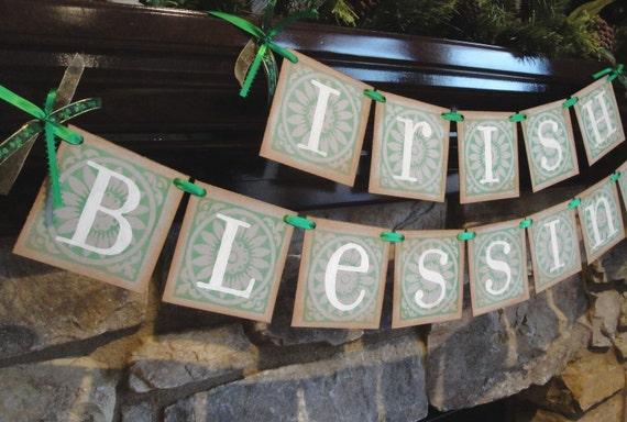 IRISH BLESSINGS St Patricks Day banner