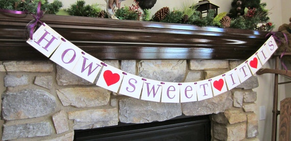 HOW SWEET it is wedding banner CUSTOM to your wedding color, bachelorette party, bridal shower