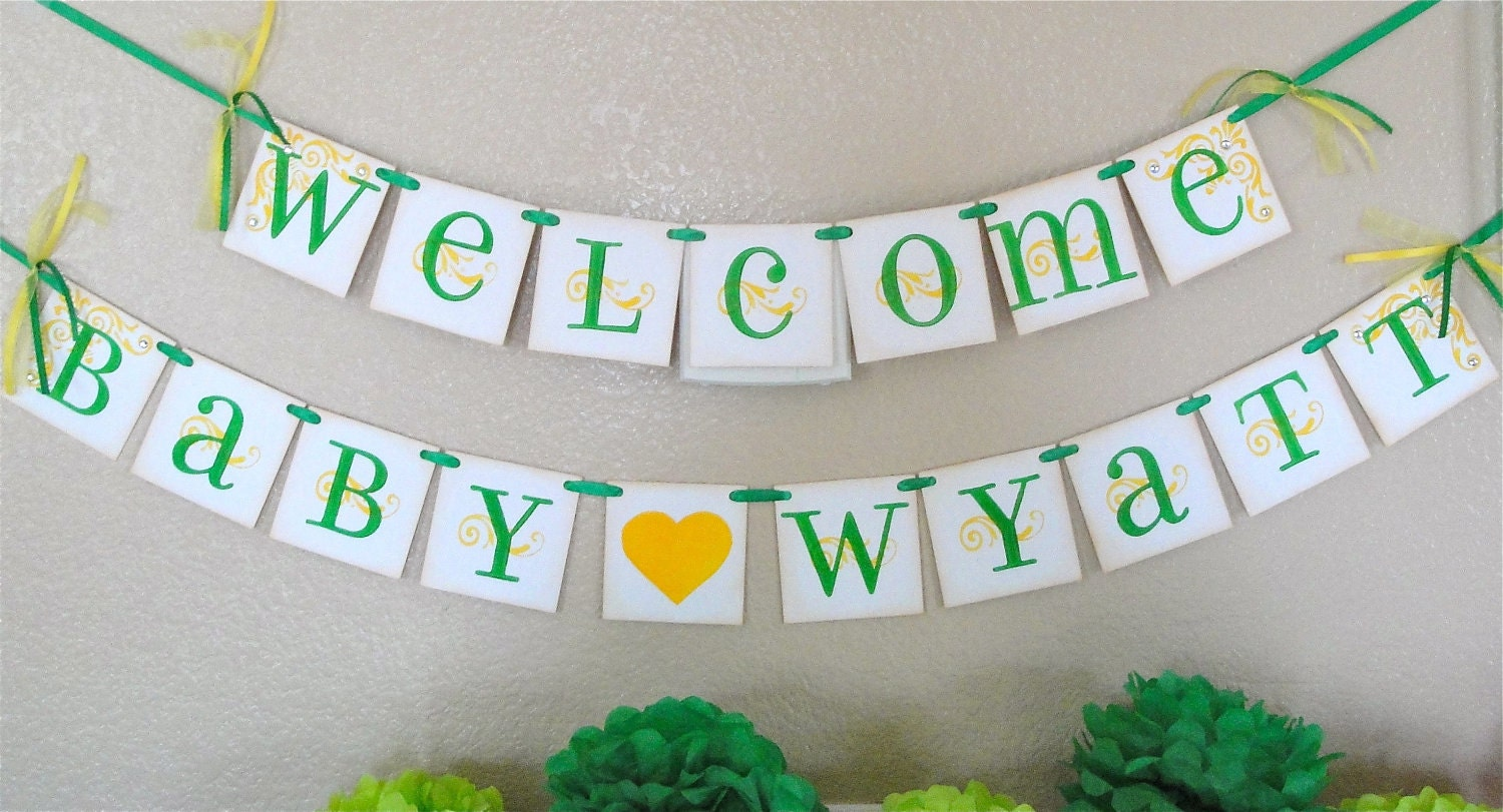 baby shower banner welcome baby custom with by cowcountrycreations
