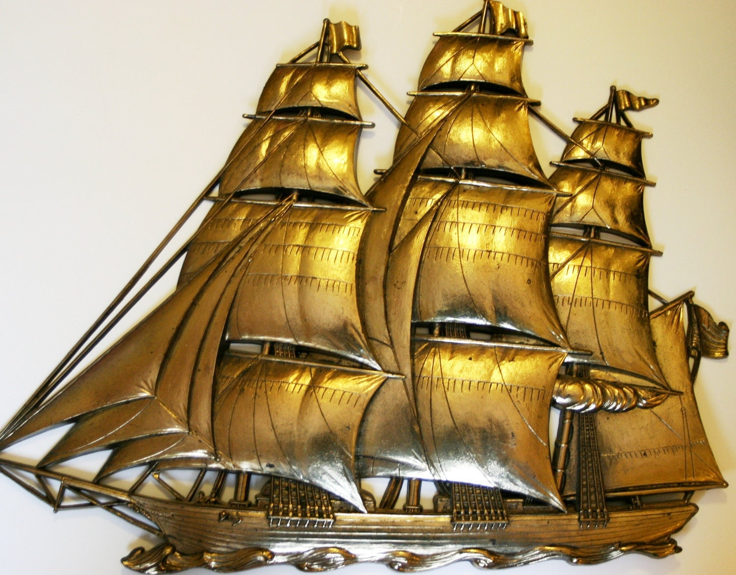 Retro Vintage Nautical Ship Wall Decor by VintageSpiritnSoul