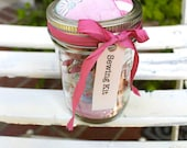 Sewing Kit in a Vintage Mason Jar with a Vintage Quilt Pin Cushion Top