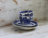 SALE Blue and White Tea Cups and Saucers- Instant Collection