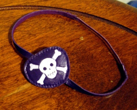 custom made Pirate eye patch for one eyed cat