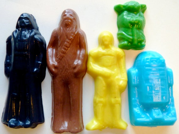 GIFT Set of 5 STAR WARS Character Soaps