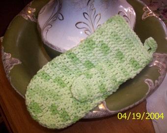 Crocheted Bath Mitt