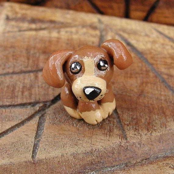 Cute Brown Puppy Sculpture SALE