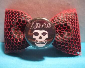 Misfits Fishnet Hair Bow