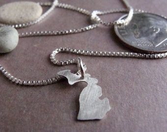 Michigan Necklace, sterling silver, tiny