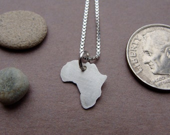 Tiny Africa Necklace (sterling silver)