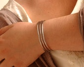 3 Lines Separated Bracelet - Mirror Shine - Stainless Steel Bracelet