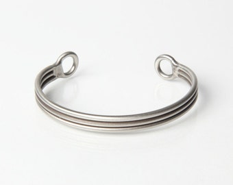 3 Lines Together Bracelet - Satin Brush - Stainless Steel Bracelet