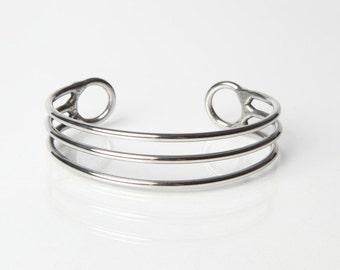 3 Lines Separated Bracelet - Mirror Shine - Stainless Steel Bracelet