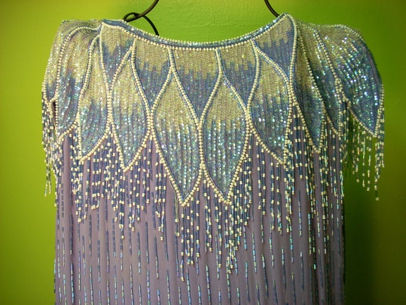1920's inspired beaded flapper shift dress
