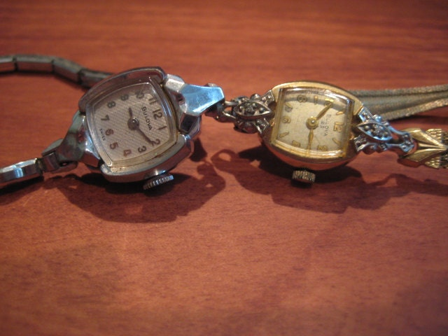 vintage bulova womens watches lot