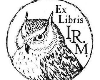 Ex Libris stamp custom made (design only)