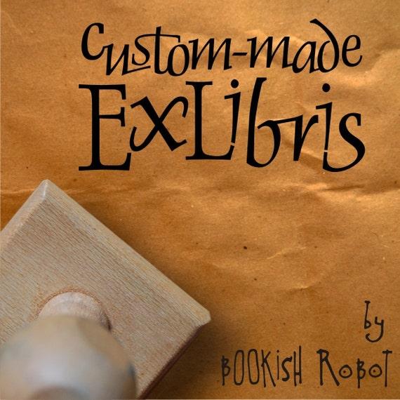 Ex Libris book stamp, custom-made (design only) - David