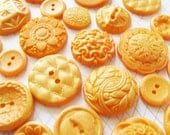 50 Orange Chocolate Buttons: Tangerine Gold