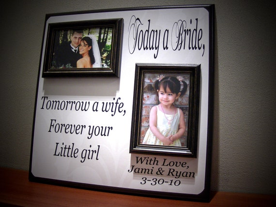Wedding Gift Personalized Picture Frame : Personalized Wedding Picture Frame Gift, Today a Bride, Thank You ...