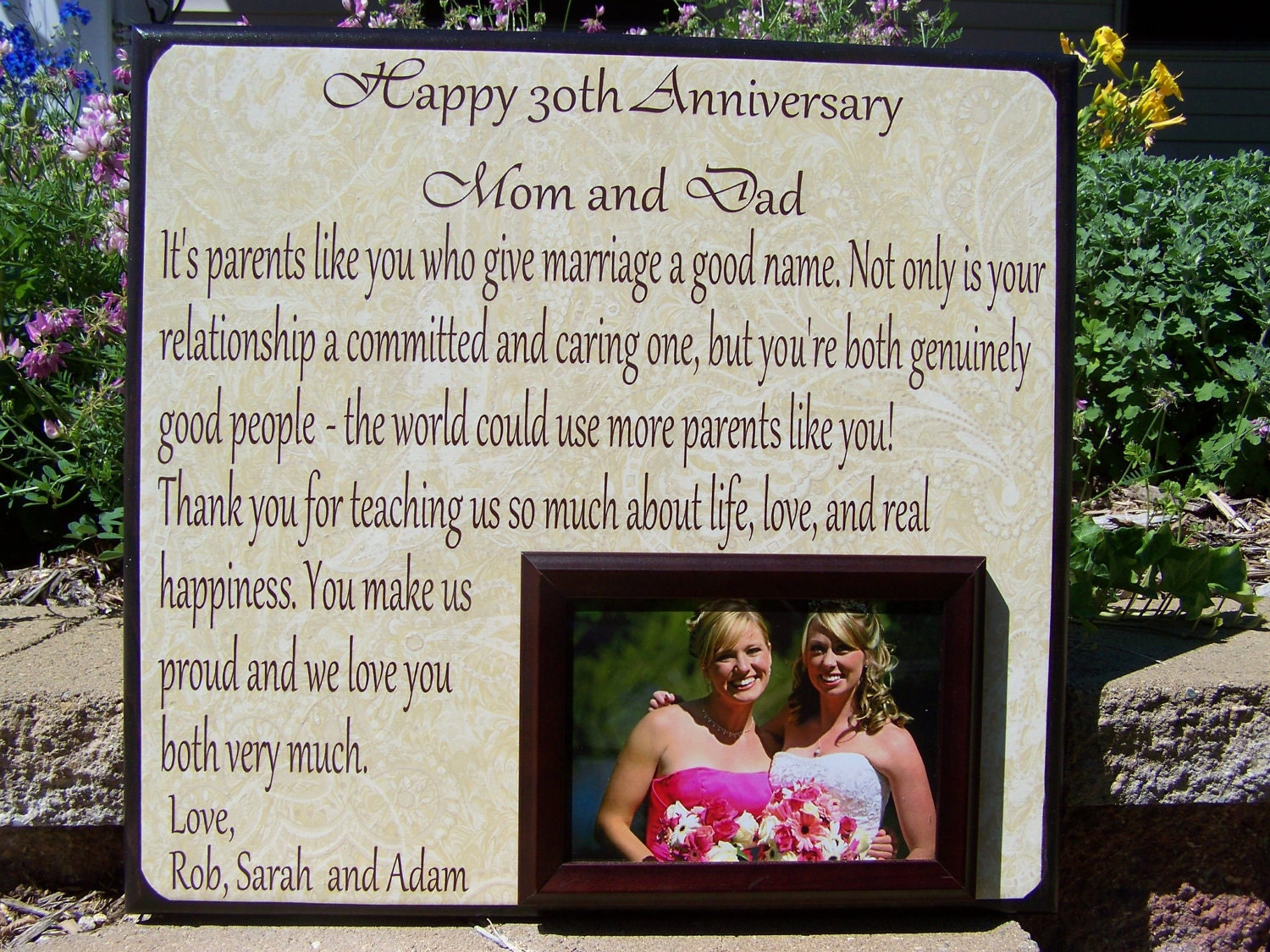 Personalized Anniversary Picture Frame 30th by YourPictureStory
