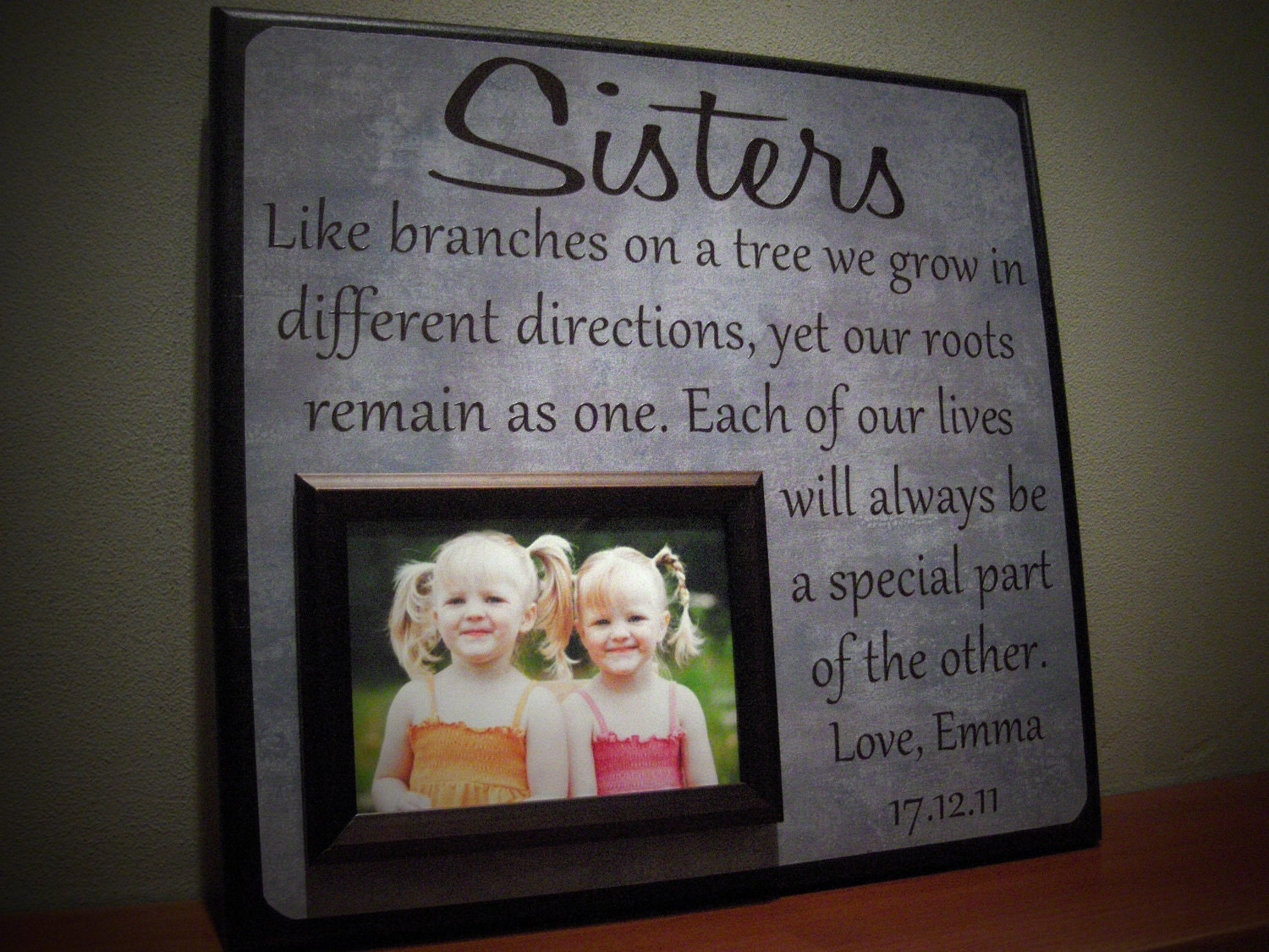 Wedding Gift Frame: SISTERS Picture Frame Wedding Gift Like By YourPictureStory