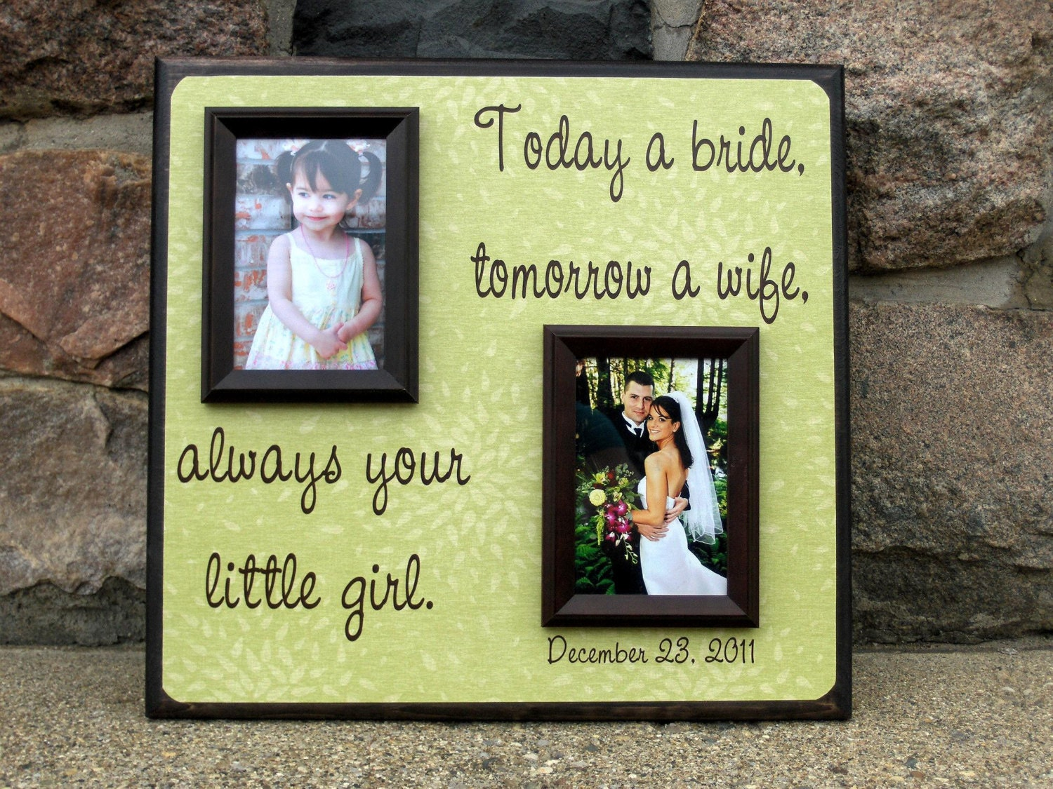 Wedding Gifts For Brides Parents : Wedding Gift for Parents Today a Bride Mother by YourPictureStory