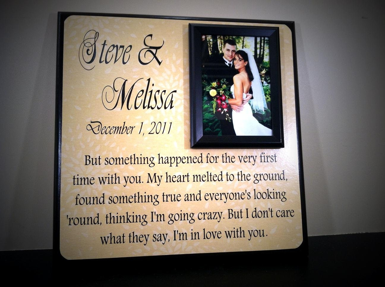 Customized Wedding Picture Frames : Personalized Wedding Frame Custom Picture by YourPictureStory