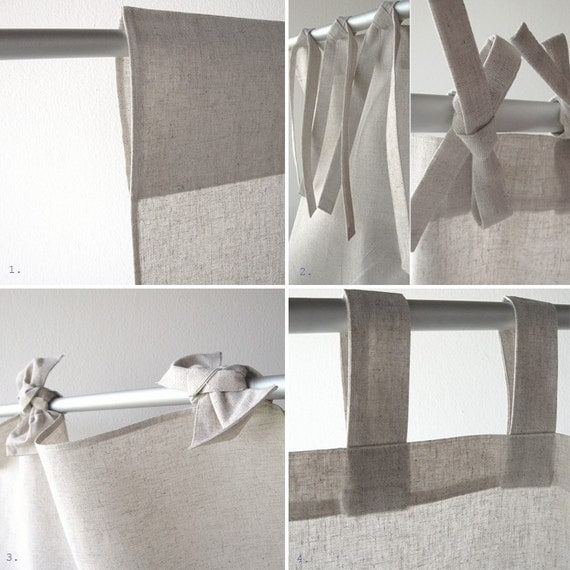 Custom made linen curtains. Reserved