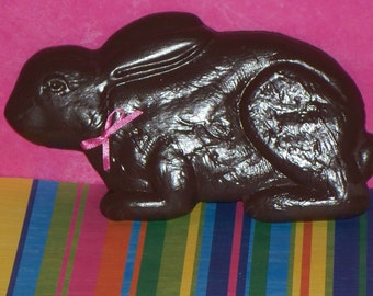 "Large 8"" Fake Chocolate Bunny Ribbon for Easter Basket Filler, Photo Props, Home Kitchen Party Decorations Display, Centerpiece"