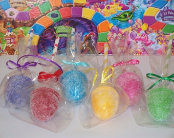 One Fake GUMDROP CAKE POP Paper Straw Sticks Polka Dot Stripe Candy Land Theme Birthday Party Favors, Decorations, Centerpiece