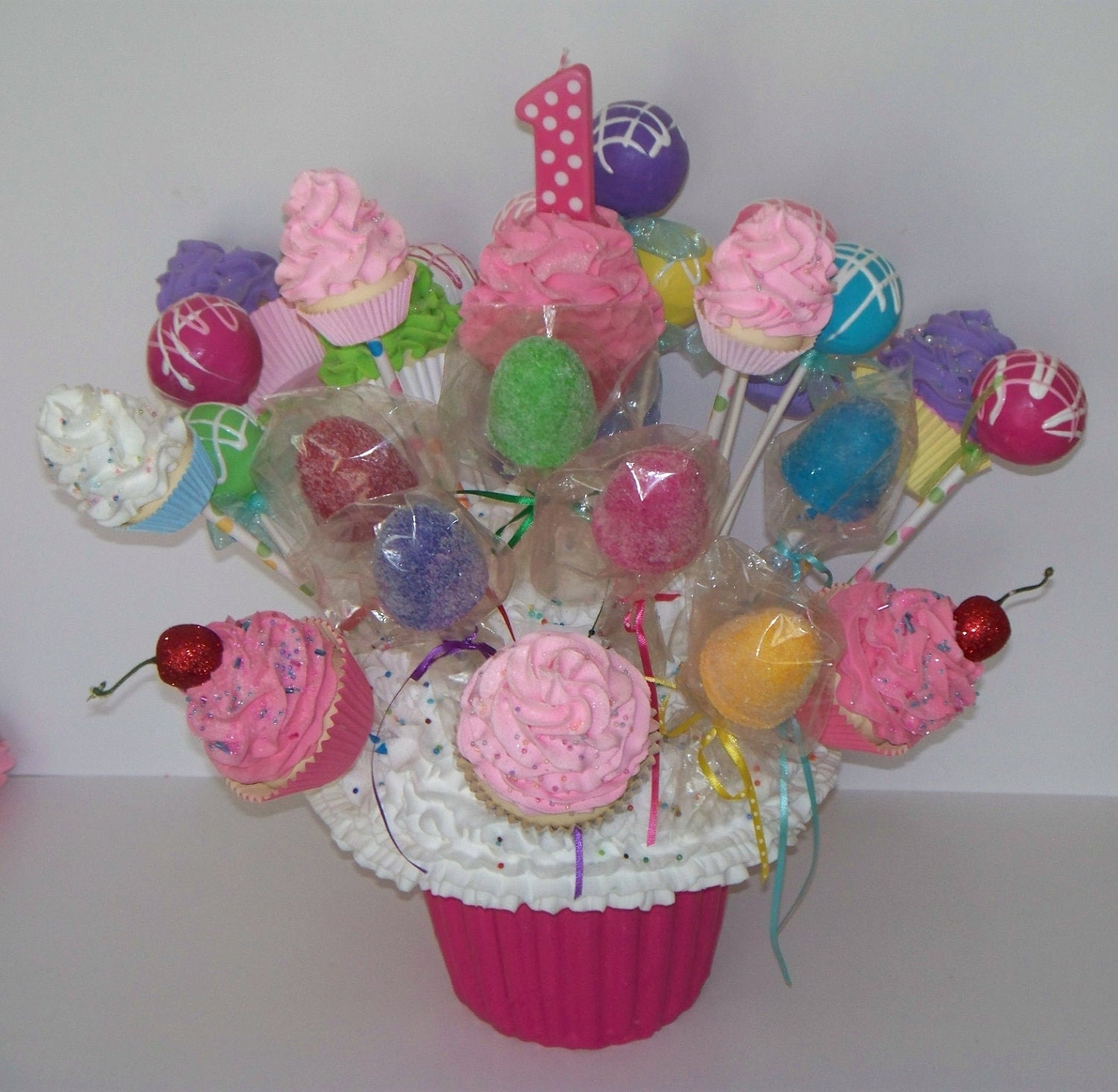 A Cupcake Themed 1st Birthday Party With Paisley And Polka: Giant Fake Cupcake First Birthday By FakeCupcakeCreations