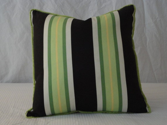 Designer Black and  Lime Green Pillow covers 22X22