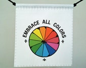 Prayer Flag, Embrace All Colors (Color Wheel)