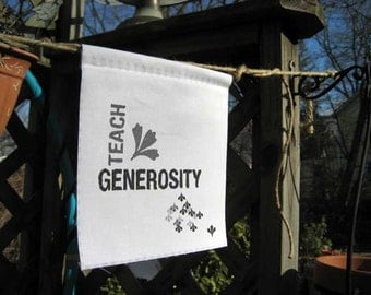 Prayer Flag, Teach Generosity