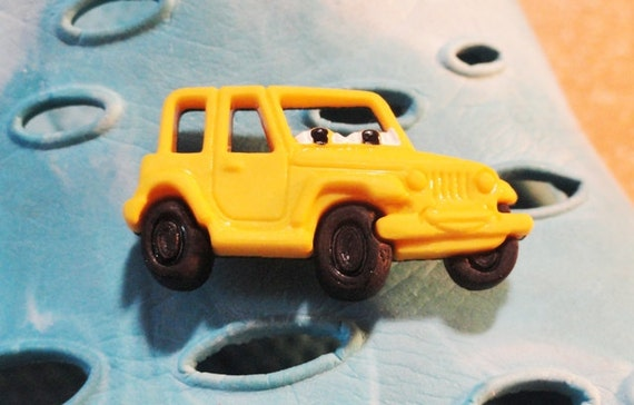 Special order for JackiieeII Yellow Jeep Croc / Clog Button - Charm for Boys or Girls