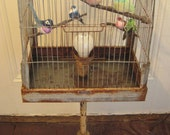 Birds Of A Feather Shabby Chic Bird Cage Lamp