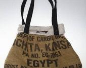 Not In Kansas Burlap Handbag