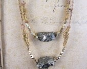 SALE///Rustic Pyrite Nugget Necklace