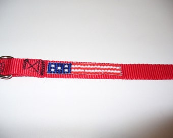 US Flag Pet Collar- Small