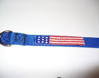 US Flag Pet Collar - Medium