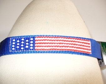US Flag Pet Collar- Large