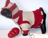 One Of A Kind Upcycled Hoodie Dog Sweater, Size xs, by Barky McRufferson