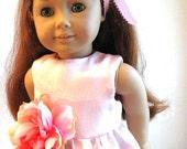 Blush Pink Twirly Dress for American Girl