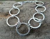Circles of Karma  - Beautiful Sterling Silver Bracelet