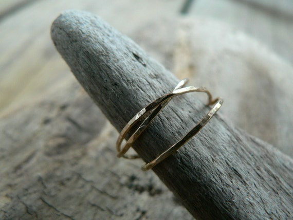 Petite Intertwined Gold Filled Rings